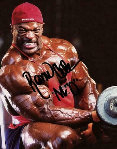 RONNIE RON COLEMAN SIGNED PHOTO 8X10 RP AUTOGRAPHED MR OLYMPIA