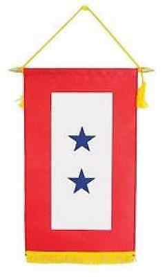 2 Blue Star Military Service Banner