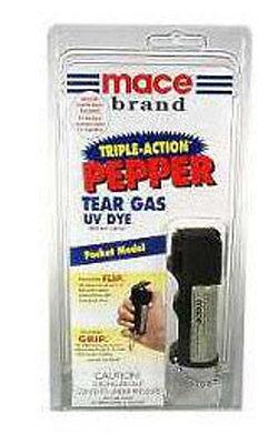 Mace Jogger Triple POWER Key Chain Pepper Spray Assailant Dye Self Defense - -- - $14.95