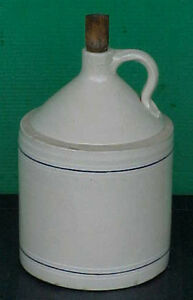 Stoneware Jug 2 1/2 gallons with wooden stopper