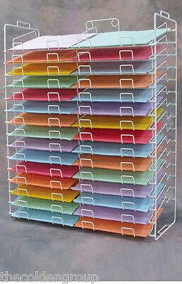 "New Planet Racks 30 Slot Scrapbook Paper Wire Display 12"" X 12"""