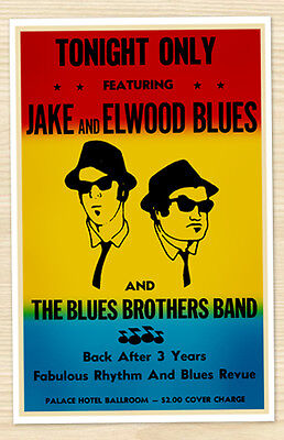 11x17 The Blues Brothers Movie Replica Prop Concert Poster Print Belushi SNL