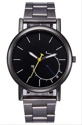 De Hombre Reloj Acero Inoxidable Lujo Diseño Analógico Cuarzo Oro Pulsera dcb57f858414