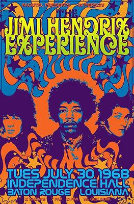 1968 Jimi Hendrix Experience concert poster