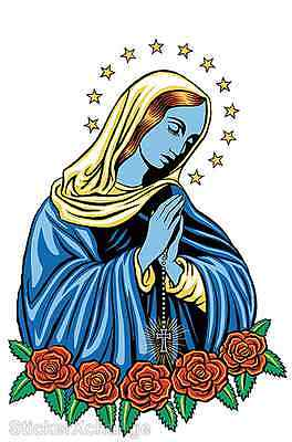 Mini Blue Mary STICKER Decal Poster Artist Marco Almera MA3B Artist Mini Poster