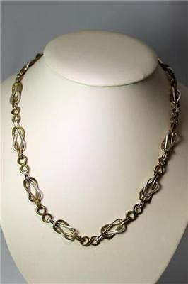 """Museum of Modern Art sterling Silver & Brass Chain Necklace 19"""" – 8606 Art Moderne Chain Necklace"""