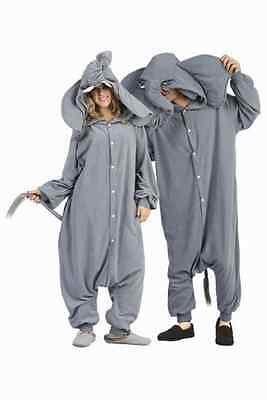 Elephant Adult Costume (ADULT PEANUT THE ELEPHANT COSTUME JUNGLE ANIMAL PAJAMAS COSTUMES)