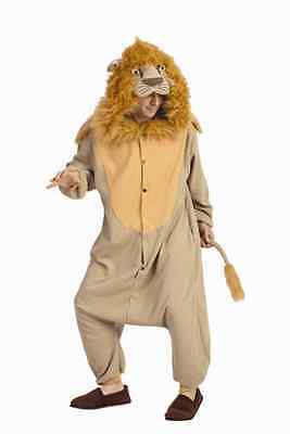 ADULT LEE THE LION COSTUME LIONESS CUB JUNGLE ANIMAL PAJAMAS COSTUMES JUMPSUIT - Adult Lion Costume