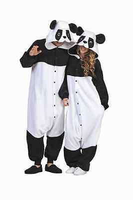 PARKER THE PANDA BEAR ADULT BLACK WHITE KUNG FU ANIMAL PAJAMAS COSTUME JUMPSUIT