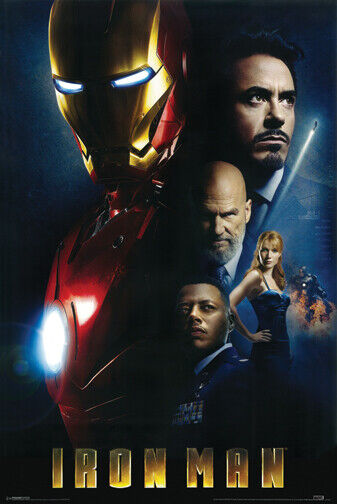 Iron Man Cast Collage Poster 24 x 36 Robert Downey Jr. New
