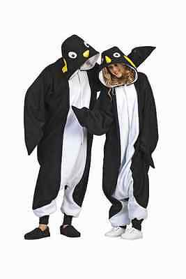 ADULT PENGUIN COSTUME ZOO SOUTH POLE MADAGASCAR ANIMAL BLACK WHITE MENS WOMENS (Black Man White Woman Halloween Costumes)