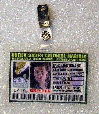 Aliens ID Badge-United States Colonial Marines Ripley