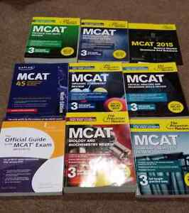MCAT books (Princeton Review and others)