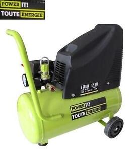 USED POWER IT 6GAL AIR COMPRESSOR 125PSI 6 GALLON OILLESS - COMPRESSORS POWER EQUIPMENT TOOLS 106297712