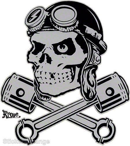Bomber Ace MINI STICKER Decal by Artist Kruse RK29B Roth Like