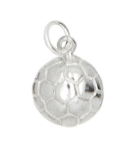 STERLING SILVER ONE SIDED SOCCER BALL CHARM