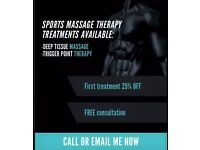 Sports Massage/Deep Tissue Massage Therapy