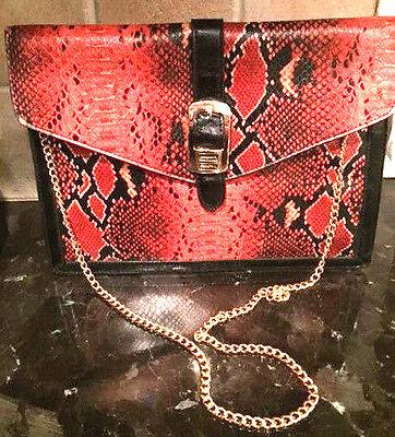 Bag FAUX LEATHER RED SNAKE BAG