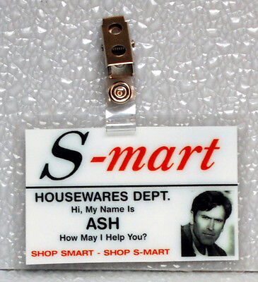 Army Of Darkness/Evil Dead ID Badge-S-mart Housewares Dept. ASH cosplay costume  - Ash Evil Dead Costume
