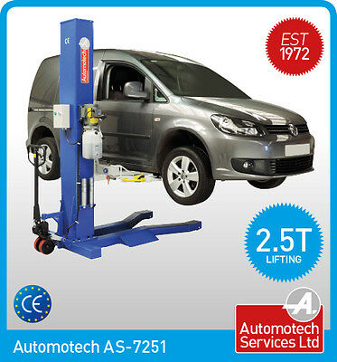 MOBILE SINGLE POST VEHICLE LIFT / MOVABLE PORTABLE 1 POST CAR RAMP / **240V**