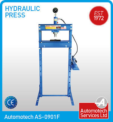20 TON HYDRAULIC WORKSHOP PRESS / SHOP PRESS WITH GAUGE / FLOOR MOUNTED UNIT