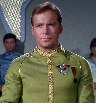 Star Trek TOS Captain Kirk Dress Uniform Awards Cosplay Captain Kirk Uniform