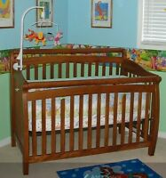 LEGACY Solid Wood Convertible Crib (Double Bed)