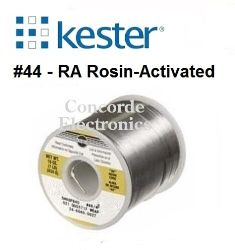 """Kester Solder 24-6337-0027: Sn63Pb37 / #44-Rosin Flux / .031"""" / 3% /  1-lb."""