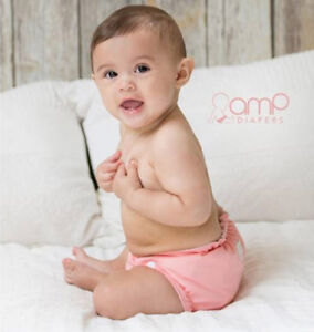 Super Cute & Fashionable AMP Hemp Cloth Diaper Kit!