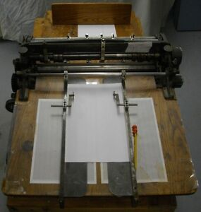 Perforator/scoring machine for sale by owner. Bench Included.