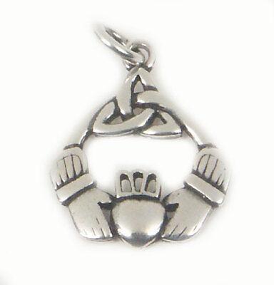 Claddagh Schmuck Anhänger 925 Silber Freundschaft Liebe Treue Geschenke ()