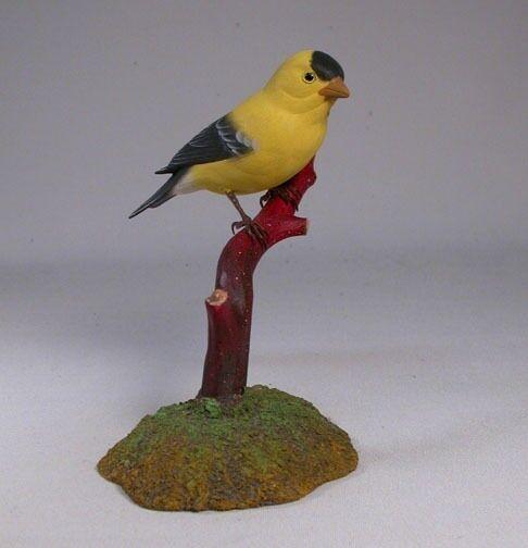 American Goldfinch Original Bird Wood Carvings/Birdhug