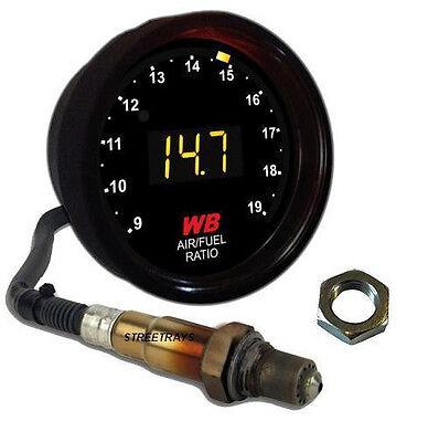 APSX V2 Anti-Glare D2 Digital Wideband O2 AFR Gauge & Sensor Kit Black & YELLOW for sale  Austin