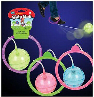 FLASHING SKIP BALL hop-it skipit jump rope exercise Skipping Fun Toy LIGHTED NEW (Skip Ball)