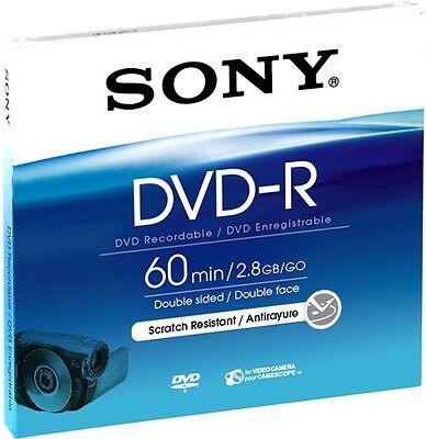 10 Sony Rohlinge DVD-R Mini 60Min 2,8GB 2x Jewelcase 8 Gb Dvd