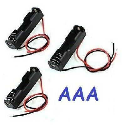 3 pieces Single AAA Battery Holder Case 1.5V NEW - USA Seller