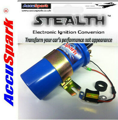 FORD V8 FoMoCo Distributor Electronic Ignition Kit & Blue Ballast Sports Coil
