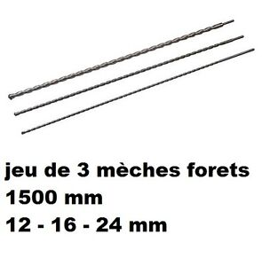 jeu 3 foret meche beton 1 5 m sds plus diam diam 12 16 24 mm long 1500 mm ebay. Black Bedroom Furniture Sets. Home Design Ideas