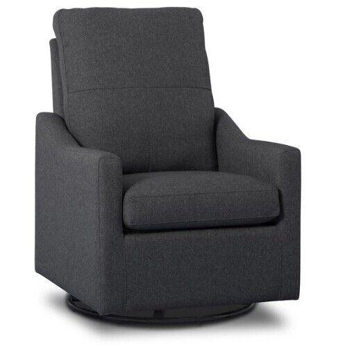 NEW! Delta Children Kenwood SLIM Nursery Glider Swivel Rocker Chair Charcoal