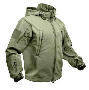 EE-UU-Especial-Spec-Ops-Ejercito-TACTICA-Soft-Shell-Chaqueta-Oliva-Monotono-XL