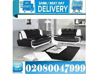 3 AND 2 SEATER SOFA SUITE IN QUALITY ITALIAN PU LEATHER