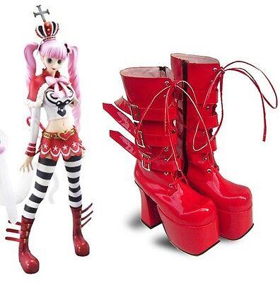 ONE PIECE Perona Pelona Cosplay Shoes Schuhe scarpa - Perona Kostüm