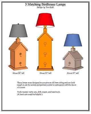 Birdhouse Lamps Woodworking Plans