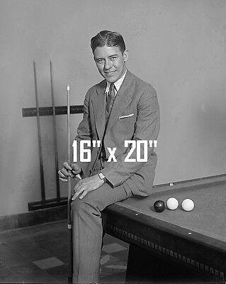 "Welker Cochran ~Shooting Pool~Playing Pool~Billiards~Poster~16"" x 20"" Photo"