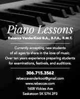 Piano Lessons - North East Saskatoon