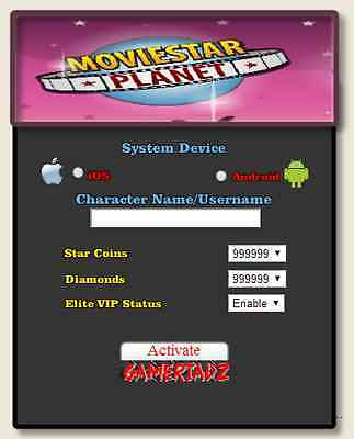 2014 Online MovieStarPlanet Hack Unlimited StarCoins Diamonds VIP