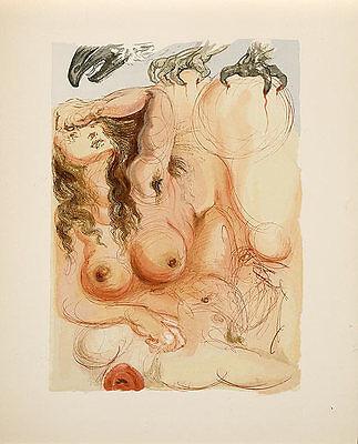 Salvador Dali, Divine Comedy, Purgatory Canto 9: The Dream, Original Woodcut