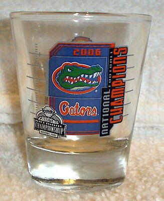 FLORIDA GATORS 2006 bcs NATIONAL CHAMPIONS champs SHOT GLASS