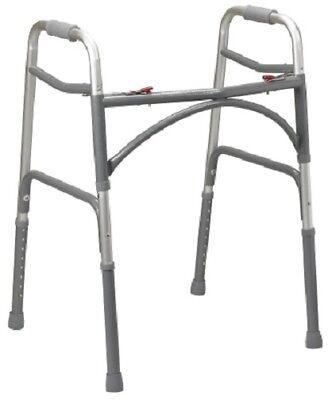 Bariatric Steel Folding Walker, Heavy Duty Adult Walker Dual Release Adjustable