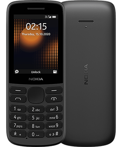 Android Phone - Nokia 215 4G - Dual Sim Mobile Phone / Black / Unlocked to All UK Networks